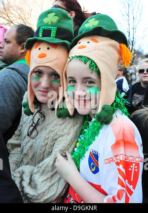 Atmosphere 250th Annual St. Patrick's Day Parade New York City, USA - 17.03.11 - Stock Photo