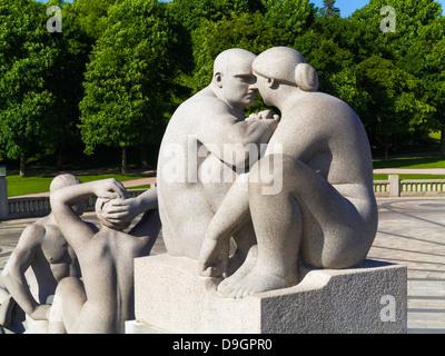 Oslo, Norway - Sculptures in Vigelandsparken Sculpture Park in Oslo, Norway - Stock Photo