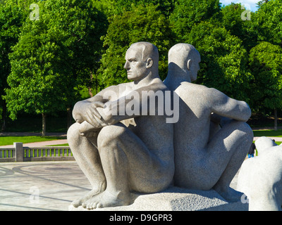 Statues Oslo - Vigelandsparken Sculpture Park in Oslo, Norway by Gustav Vigeland - Stock Photo