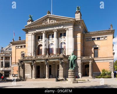 The National Theatre, Oslo, Norway, Scandinavia - Stock Photo