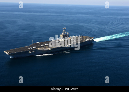 February 9, 2013 - The aircraft carrier USS John C. Stennis transits the U.S. 5th Fleet area of responsibility. - Stock Photo