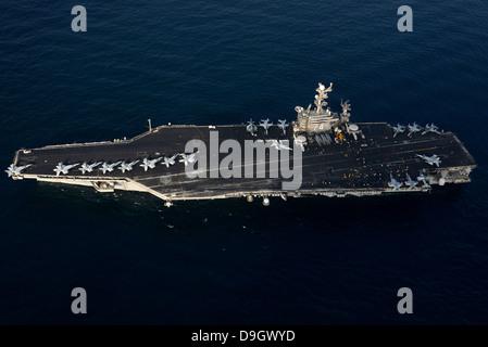 February 19, 2013 - The aircraft carrier USS John C. Stennis (CVN 74) transits the U.S. 5th Fleet area of responsibility. - Stock Photo