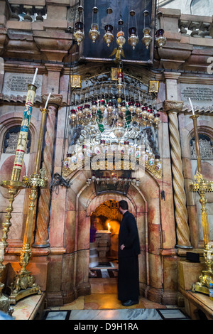 Church of the Holy Sepulchre in the old city, Jerusalem, Israel. - Stock Photo