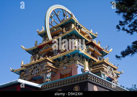 Asia, India, Karnataka, Bylakuppe, Golden Temple - Stock Photo