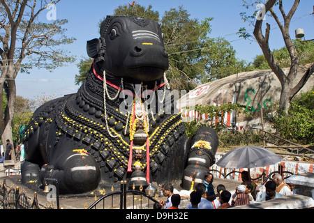 Asia, India, Karnataka, Mysore, Chamundi Hill, Nandi Statue