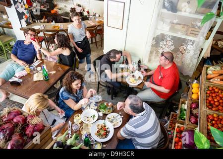 Machneyuda restaurant, Jerusalem, Israel. - Stock Photo