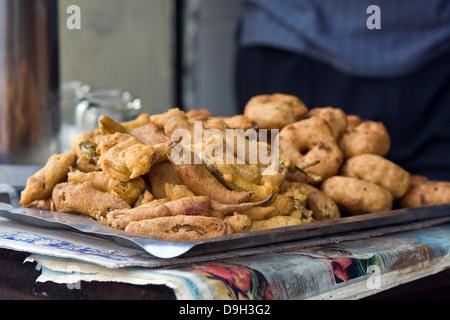 Asia, India, Karnataka, Mysore, Indian snacks - Stock Photo