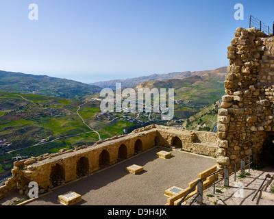 View from crusaders Castle Karak, Jordan, Middle East - Stock Photo