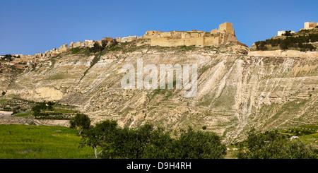 Crusaders Castle Karak, Jordan, Middle East - Stock Photo