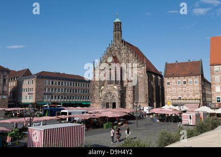 Frauenkirche, Nuremberg, Germany - Stock Photo