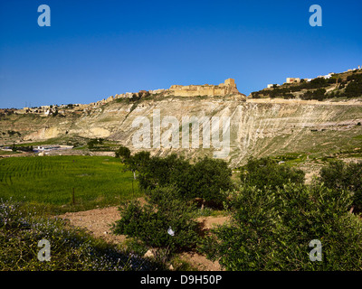 Crusaders Castle Karak, Jordan, Middle East - Stock Photo