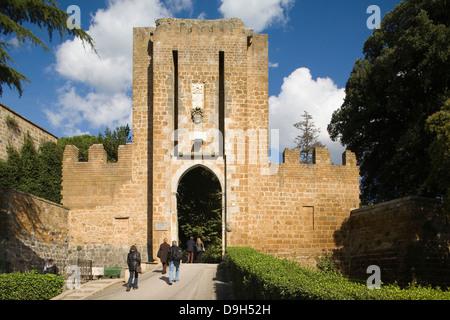 europe, italy, umbria, orvieto, albornoz fortress and rocca gate