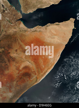 Satellite view of the Horn of Africa. - Stock Photo