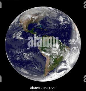 Full Earth showing North and South America on December 31, 2010 - Stock Photo