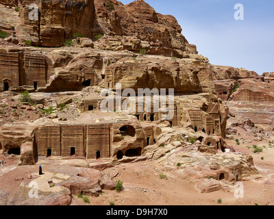 Frontage road in the city of Petra, Jordan, Middle East - Stock Photo