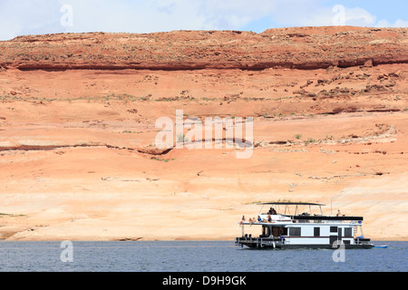 Houseboat On Lake Powell In Glen Canyon National