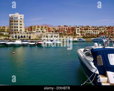 Marina at Tala Bay in Aqaba, Jordan, Middle East - Stock Photo