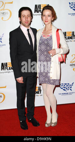 Simon Helberg and Jocelyn Towne 25th Anniversary Genesis Awards held at The Hyatt Regency Century Plaza Hotel - - Stock Photo