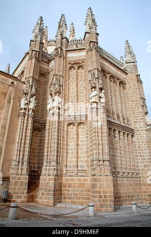 TOLEDO - MARCH 8: East facade of Monasterio San Juan de los Reyes or Monastery of Saint John of the Kings - Stock Photo