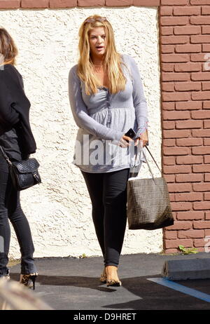 Kirstie Alley  arrives at a dance studio to rehearse for 'Dancing With The Stars' Los Angeles, California - 22.03.11 - Stock Photo