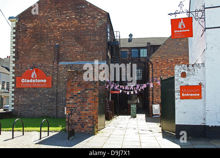 The entrance to the Gladstone Pottery Museum Longton The Potteries  Stoke-on-Trent England UK - Stock Photo