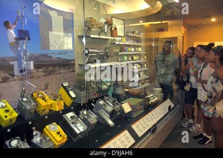Nevada Las Vegas Flamingo Road National Atomic Testing Museum nuclear weapons development Area 51 aliens Geiger - Stock Photo