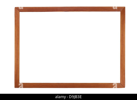Wooden picture frame isolated on white. - Stock Photo