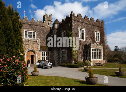 Waterford Castle built in the 15th Century, (now a hotel), On an Island in the River Suir Near Waterford City, Ireland - Stock Photo