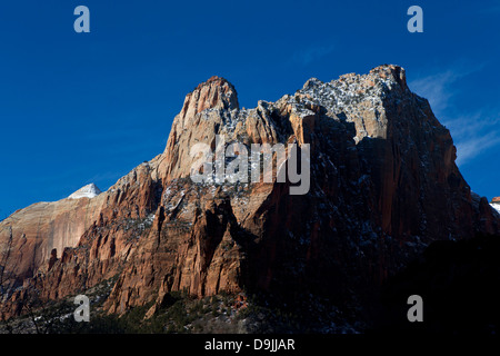 Large rock formations, Zion National Park, Utah, United States of America - Stock Photo
