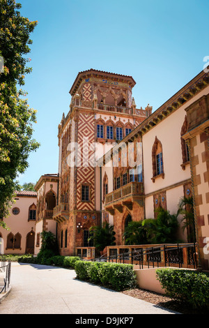The Ca d' Zan Mansion in Sarasota FL, home of John and Mable Ringling. - Stock Photo