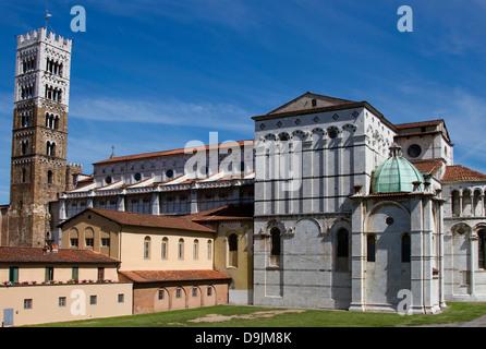 Duomo di San Martino, Lucca, Italy - Stock Photo