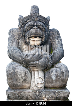 Traditional Balinese sculpture depicting Hanuman (One of the Ramayna heroes) - Stock Photo