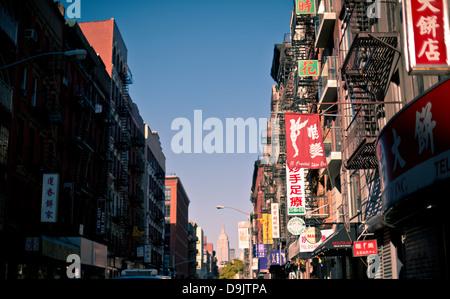 China Town, Manhattan, New York City, USA - Stock Photo
