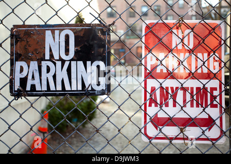 No Parking Signals - Stock Photo