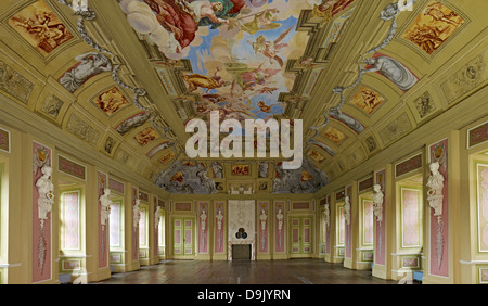 Ballroom in Tenneberg Castle in Waltershausen, Thuringia, Germany - Stock Photo