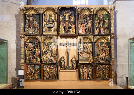 Retablo de las Animas at the Sacred Art Museum - Peñafiel, Spain - Stock Photo