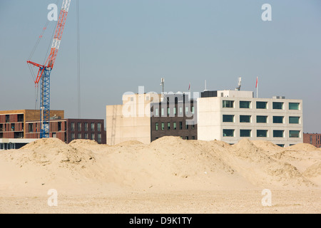 Land reclaimed from the sea in Ijburg, Netherlands. - Stock Photo