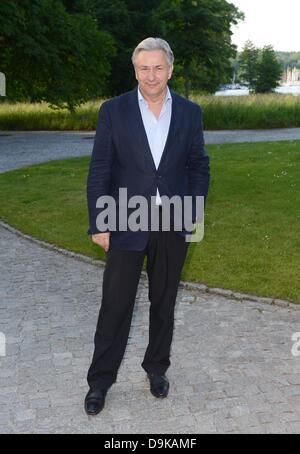 Berlin's governing mayor Klaus Wowereit arrives at a soiree for the preselection of the International Emmy Award, - Stock Photo