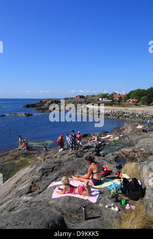 Landsort Island (Oeja), Stockholm Archipelago, baltic sea coast, Sweden, Scandinavia - Stock Photo