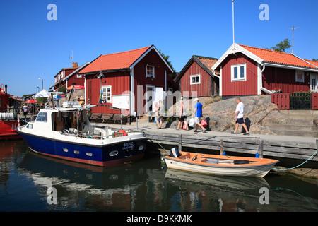 Harbor of Landsort Island (Oeja), Stockholm Archipelago, baltic sea coast, Sweden, Scandinavia - Stock Photo