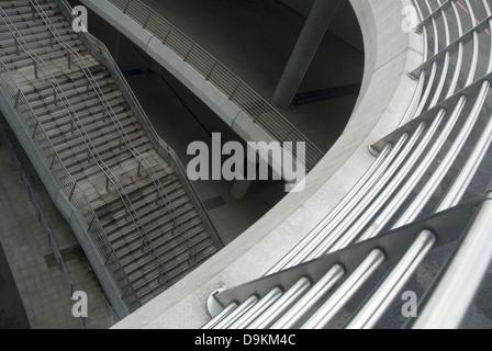 concrete stairs at stadium - Stock Photo
