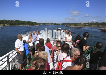 Toroe Island,ferry to Landsort Island (Oeja), Stockholm Archipelago, baltic Sea coast, Sweden, Scandinavia - Stock Photo