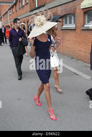 Ascot, Berkshire, UK. 21st June 2013.  Racegoers attend day 4 of Royal Ascot at Ascot Racecourse in Ascot, England. - Stock Photo