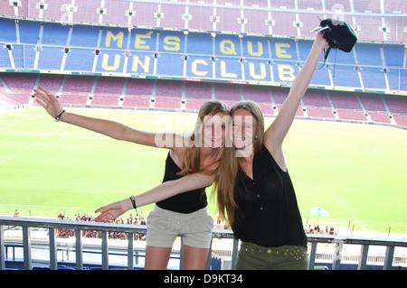 Camp Nou,  Barcelona football stadium Spain - Stock Photo