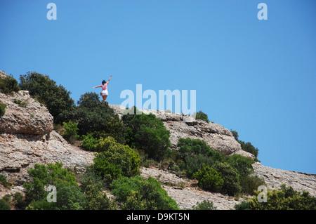 Montserrat mountains Catalonia Spain Europe - Stock Photo