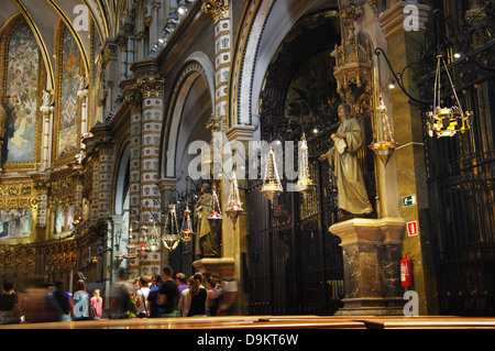 Montserrat monastery near Barcelona Spain - Stock Photo