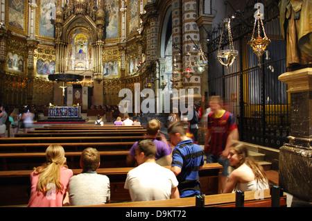 students at Montserrat monastery near Barcelona Spain - Stock Photo