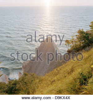 Wissower Klinken Cliffs near Sassnitz in the Jasmund National Park, on the island of Rugen, northern Germany - Stock Photo