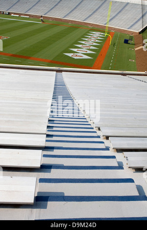 General view of bleacher seating at Scott Stadium, University of Virginia on September 6, 2007 in Charlottesville, VA.