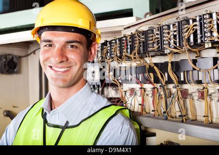 portrait of male Caucasian industrial technician - Stock Photo